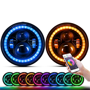 7 inch RGB Hola Angel Eye Led Headlight (Rolling Water Effect)JG-J003P