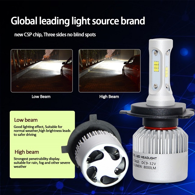 Automotive LED Headlights Bulb S2 CSP