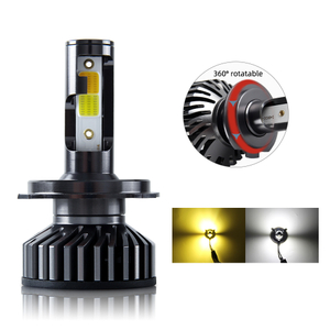 Dual-Color Metal LED headlight bulb JG-F2HL