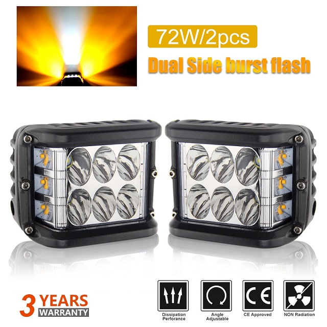 Dual Side Shooter Led Cube Flashing Led Work Light JG-996BS