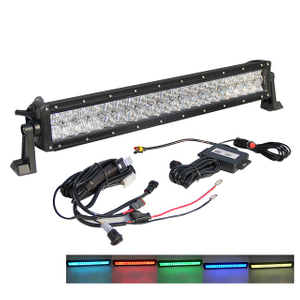 Jeep RGB Dual Row 22-52inch LED Light Bar JG-9624R