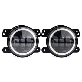 4 inch Led Fog Lights with Halo Ring for Jeep JG-W001-B