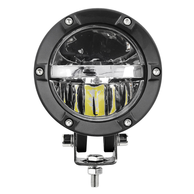 Eagle Series ® Heart-shaped Yellow/White Light Integration 4 inch Led Auxiliary Light for Car ,Motorcycle JG-1000Z