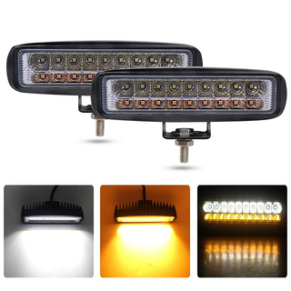 6 inch dual -color square marine,automotive led work lights, automotive auxiliary lights.JG-921S