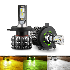 2020 Green/Yellow Dark Grey Fanless Led Headlight Bulb / Fog Light Bulb JG-K1
