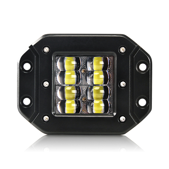 "5"" Flush Mount White Flashing Led Pods JG-995DB-8"