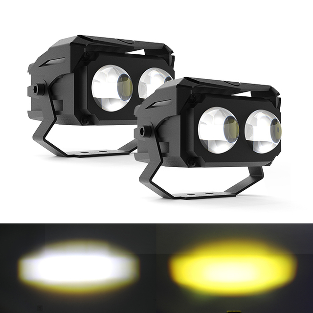 3 Inch Wide Working Volt External Dual-Color Led Work Light with Two Lens JG-993C